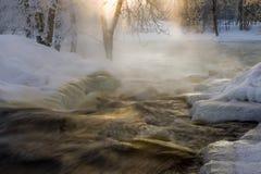 Pleno invierno en el arroyo Fotos de archivo