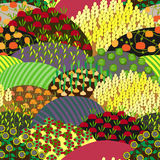 Plenteous Fields Seamless Pattern. Harvest background. Royalty Free Stock Images