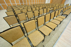 Plenty of brown seats Royalty Free Stock Image