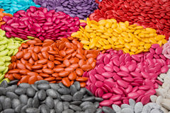 Plenty of candy dragees, colorful chocolate on a background Royalty Free Stock Photo