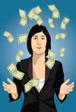 Plenty of Cash. Image of a prosperous lady who has plenty of cash Stock Image