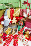 Plenty of christmas gifts Stock Photos