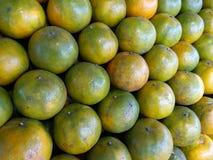 Orange sell. Plenty of citrus tangerine orange at the market for sell Royalty Free Stock Image