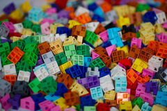 Plenty of colorful plastic pieces Stock Photography