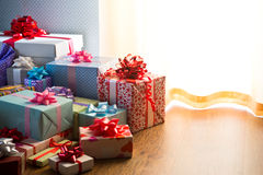 Plenty of colorful presents Stock Photography
