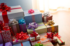Plenty of colorful presents Royalty Free Stock Photo