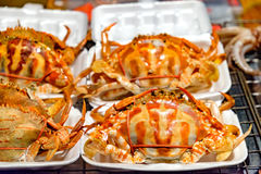 Plenty of crabs being tie for sell Royalty Free Stock Photos