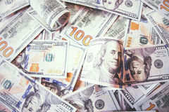 Plenty of dollar bills Royalty Free Stock Images