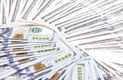 Plenty of Dollars Banknotes Arranged Bulk Royalty Free Stock Images