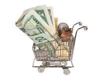 Plenty of dollars for shopping Royalty Free Stock Photography