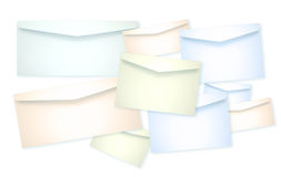 Plenty of Envelope paper Stock Image