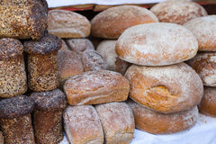 Plenty of fresh loafs of bread Royalty Free Stock Photo