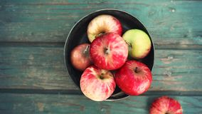 Plenty Of Fruits. Apples and pears stock footage