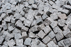 Plenty of gray cement bricks Royalty Free Stock Image
