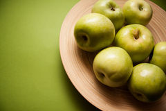 Plenty of green delicious apples Stock Photos