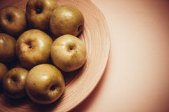 Plenty of green delicious apples Stock Images