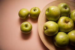 Plenty of green delicious apples Stock Photography