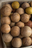 Plenty of  light brown color wooden balls Stock Images