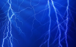 Plenty of lightnings Stock Photos