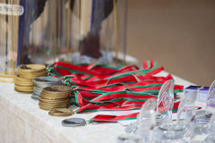 Plenty of medals and awards on World Open Minsk championship 201 Stock Images