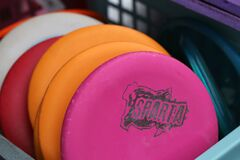 Free Plenty Of Colorful Frisbee Golf Disc In A Basket Stock Photo - 210456390