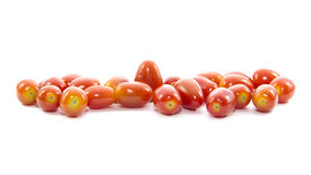 Plenty organic fresh mini tomato Royalty Free Stock Images