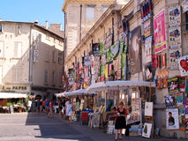 Plenty of playbills on a wall in Avignon Stock Images
