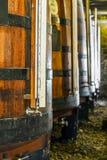 Plenty of wine barrels in Porto area, Portugal Royalty Free Stock Photo