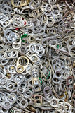 Plenty of ring-pulls Stock Photo