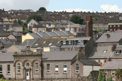 Plenty roofs. Irish way of building houses, very crowded, no room for streets, cork city, ireland Royalty Free Stock Images