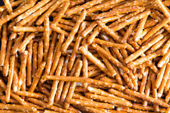 Plenty Salted Baked Pretzel Sticks for Backgrounds Royalty Free Stock Images