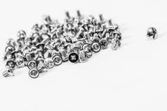 Plenty of screws isolated Royalty Free Stock Photography