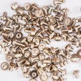 Plenty of screws isolated Royalty Free Stock Photos