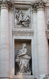 The Plenty sculpture, detail of  The Trevi fountain. The Plenty sculpture, detail of The Trevi Fountain Royalty Free Stock Images