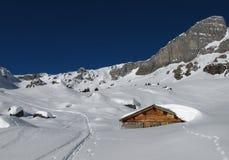 Plenty of snow in the alps Stock Photos