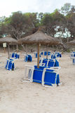 Plenty of sun loungers. Royalty Free Stock Images