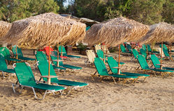 Plenty of sun loungers. Stock Image