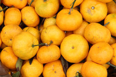Plenty of tangerines or orange in a market Royalty Free Stock Photos