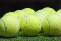 Plenty of tennis Balls. Sport Concept Royalty Free Stock Images