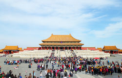 Plenty tourists to see Forbidden City, Beijing Stock Images