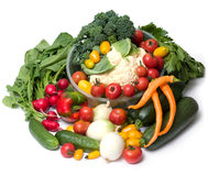 Plenty of vegetables Stock Images