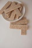 Plenty of wheat crispbread Stock Photography