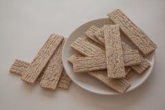Plenty of wheat crispbread Royalty Free Stock Photography