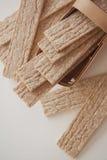 Plenty of wheat crispbread Stock Photos