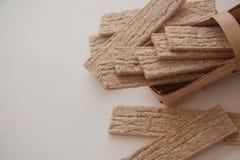 Plenty of wheat crispbread Stock Image
