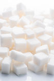 Plenty of white sugar cubes Royalty Free Stock Image
