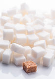 Plenty of white sugar cubes Royalty Free Stock Images