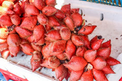 Plenty of zalacca at the market for sell Royalty Free Stock Image