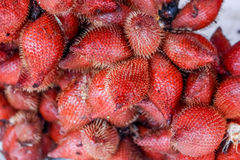 Plenty of zalacca at the market for sell Royalty Free Stock Photo