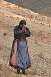 Pélerin tibétain Images stock